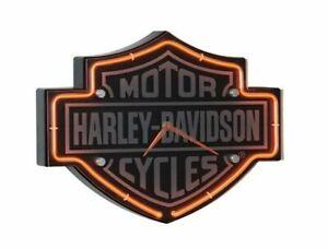 "Harley-Davidson Wanduhr ""ETCHED BAR & SHIELD NEON CLOCK"" *HDL-16651B* Uhr"