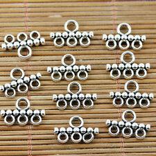 100PCS Tibetan silver 3 holes connectors EF1608