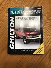 Chilton Repair Manual Toyota Pick-Ups, Land Cruiser & 4Runner, 1989-96 68602