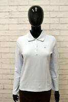 Polo Maglia Donna TOMMY HILFIGER Taglia Size XS Camicia Shirt Woman Blu Celeste