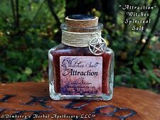 ATTRACTION, Witches Spiritual Salt, Hand-Colored For Use In Love & Fire Magick