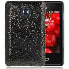 Hardcase Schutzhülle für LG E400 Optimus L3 schwarz schimmernd Etui Hülle Case
