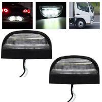 2x 12V 24V LED arrière plaque immatriculation lampe lumière camion remorque