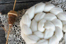 ILE DE FRANCE Wool Roving Combed Top Natural Ecru White Spinning Fiber 4 oz