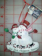 'Our First Christmas Together' Ornament  licensed by Kurt Adler NEW W/TAG