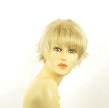 Perruque femme courte blond doré méché blond très clair  VALENTINE 24BT613