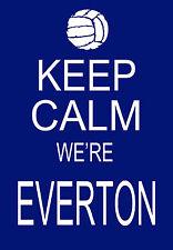 Modern Shabby Chic Keep Calm we're Everton Football A3 Art Poster Print