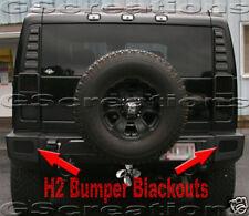 H2 Hummer Bumper Blackout Kit SUT SUV Blackouts