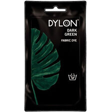 DARK GREEN DYLON HAND WASH FABRIC CLOTHES DYE 50g TEXTILE PERMANENT COLOUR