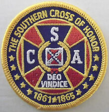 SOUTHERN CROSS OF HONOR CONFEDERATE PATCH - CSA - DEO VINDICE - DIXIE