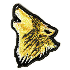Embroidered Howling Wolf Sew or Iron on Patch Biker Patch