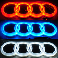 4D Car LED Logo Light Auto Badge Front Emblems Lamp For AUDI A1 A3 A4 A5 A6 A7