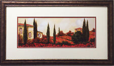 "Guido Borelli ""Tre Casa Tra I Papaveri"" FRAMED NEW Hand Signed Lithograph ITALY"