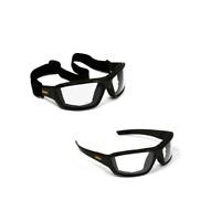 DeWALT Converter Safety Goggle Glasses with Clear Anti-Fog Lens, Black Frame