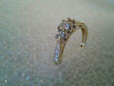 14 kt gold diamond Ring size 7
