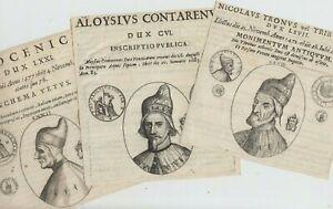 Konvolut 5 alte Stiche Dogen von Venedig Dux Venezia wohl 1700-1800