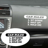 COOL Speed Car Rules Sticker Vinyl Decal Racing Bumper Window Windshield Sticker