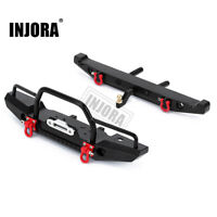 Metal Front Rear Bumper with Led Lights for 1/10 RC Axial SCX10 & SCX10 II 90046