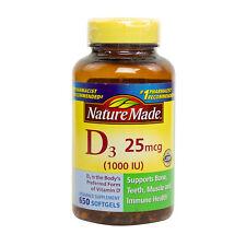 Nature Made Vitamin D3 1000 IU - 650 Softgels FRESH, FREE SHIPPING, MADE IN USA