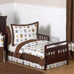 New! Sweet JoJo Designs Night Owl 5-piece Toddler Bedding Set
