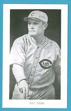 Red Lucas (Reds) Vintage Baseball Postcard With Name on Front GRN