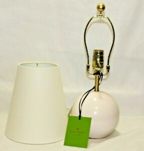 Kate Spade Pink Blush Small Ceramic Sphere Table Lamp with Shade New