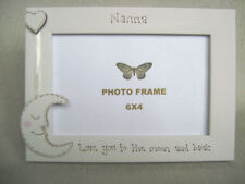 personalised photo frame 6x4 inch.NANNA  love you to the moon and