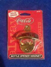 Coca Cola Solid Brass Bottle Opener Magnet Item #99163 - Coke