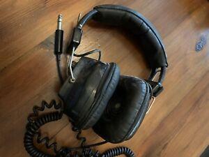 Vintage Sony DR-9 Headphones - ¼ Inch Jack - Black - 1970s