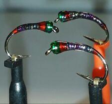 Micro Glint Perdigon Nymph Size 10 (Set of 3)  Trout & Grayling.