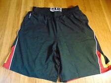 ADIDAS NBA AUTHENTIC MIAMI HEAT BLACK LIGHT WEIGHT GAME SHORTS SIZE 4XL+2""