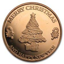 1 oz Copper Round - Merry Christmas