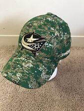 Columbus Blue Jackets Camo Military NHL Hat Hockey Reebok L/XL