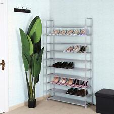 10 Schicht Schuhregal Schuhschrank Schuhablage Stoff für 60 paar Schuhe LSR10G