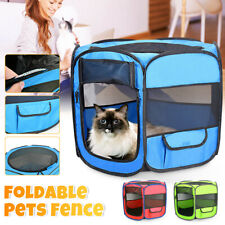 Dog Cat Pet Tent Portable Cage Folding Kennel Puppy Playpen House Bed Fence Tent