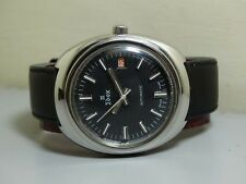 VINTAGE EDOX AUTOMATIC DATE SWISS MENS WRIST WATCH e627 Old Used Antique