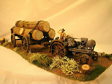 G scale 1:32 - Logging Tractor Diorama - handcrafted, custom weathered - lot 4
