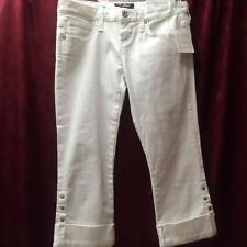 GUESS NWT Maxine Fit White Wash Rolled Cuff Jegging Capris Size 26