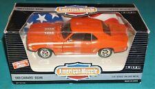 1969 Chevrolet Camaro SS396 Orange American Muscle Ertl 1/18 Diecast New In Box.
