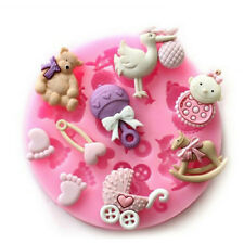 Baby Shower - Newborn -  Party 3D Silicone Mould Fondant Cake Decorating Topper