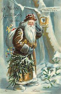 # B1549   CHRISTMAS    POSTCARD,   SANTA