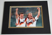 Rudi Voller Signed Autograph 10x8 photo display Germany Football AFTAL & COA
