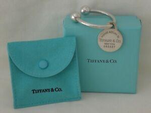 Original TIFFANY & Co Sterling Silver Key Ring