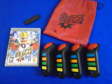 ps3 BUZZ Quiz TV + Official WIRELESS BUZZERS REGION FREE Pal English
