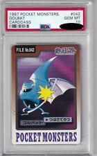 Pokemon Card Japanese Golbat No. 042 Carddass Bandai Graded PSA 10 GEM MINT