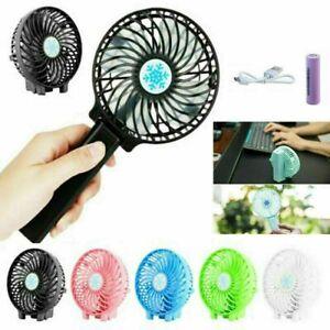 Air Conditioner USB Rechargeable Desk Fan Hand-held Fan Mini Fan Facial Fans