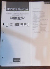 SANSUI RG-707 égaliseur service repair workshop manual (original)
