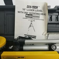 Cen Tech 16 Inch Laser Level With 360 Rotating Head Model #90980 Not Tested