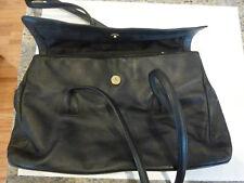 Vintage ~ Stone Mountain Black Leather Shoulder Bag  Handbag Purse w/ Coin Purse