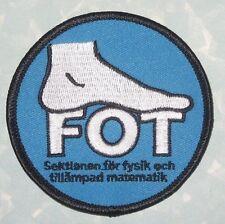 FOT Patch - Sektionen för fysik och tillämpad matematik - Sweden